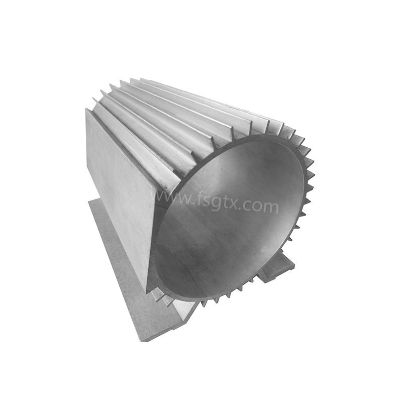 Hot sale material 6063 motor shell radiator aluminum alloy profile