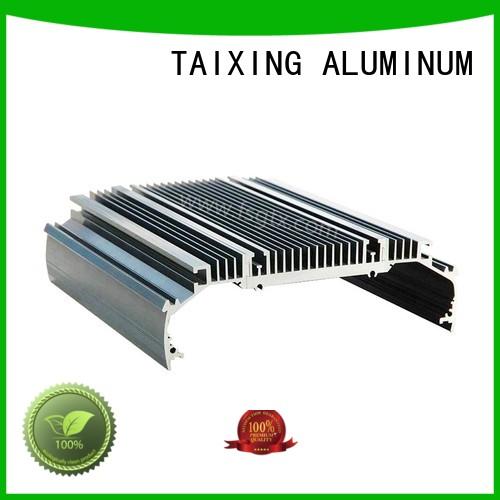 customized designs 6063 aluminum aluminum radiators with electric fans TAIXING ALUMINUM Brand
